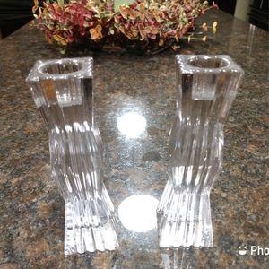 Orrefors Crystal Candlesticks